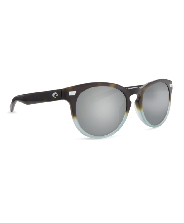 Costa Del Mar Del Mar Matte Tide Pool/Gray Silver Mirror 580G Sunglasses