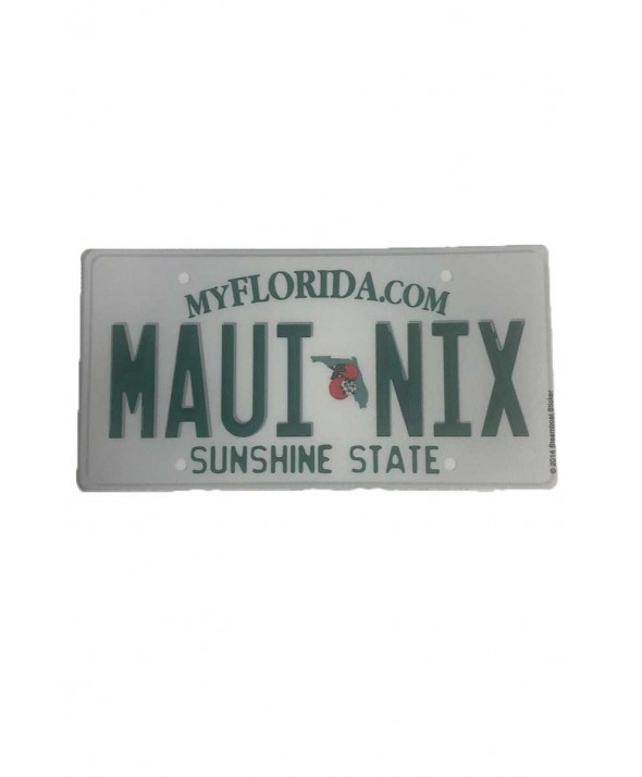 Maui Nix Florida Plate Sticker