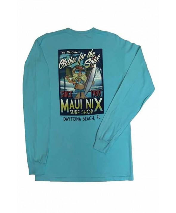 Maui Nix Getaway Poster Long Sleeve Tee