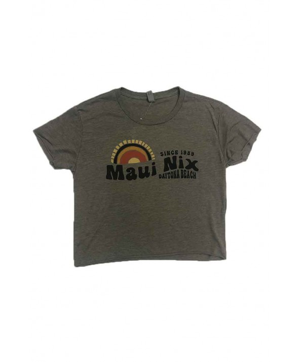 Maui Nix 70's Sunset Hemless Crop Top